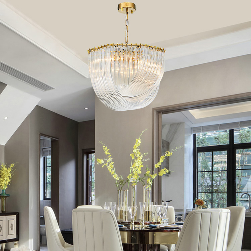 New Modern Glass Chandelier Lighting Luxury Home Decoration LED Cristal Lamp  1