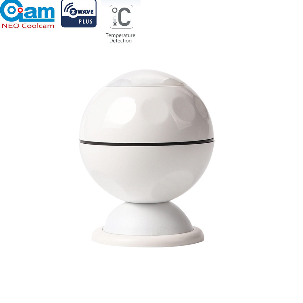 NEO COOLCAM NAS-PD02Z Z-wave Plus PIR Motion Sensor +Temperature Home Automation Z Wave Alarm System Motion Sensor EU 868.4MHZ
