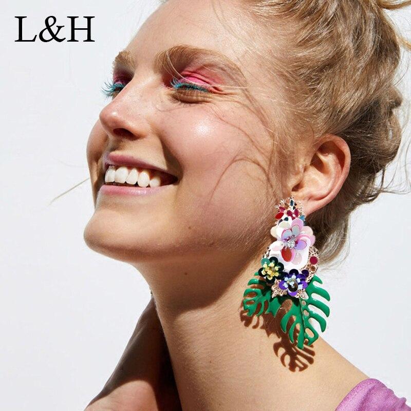 Cute Tortoise Acrylic Drop Dangle Earrings Ear Stud Pendant Earrings Jewelry  JX