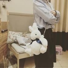 super cute rabbit plush bag pink bunny toy girls bag gift for girlfirend