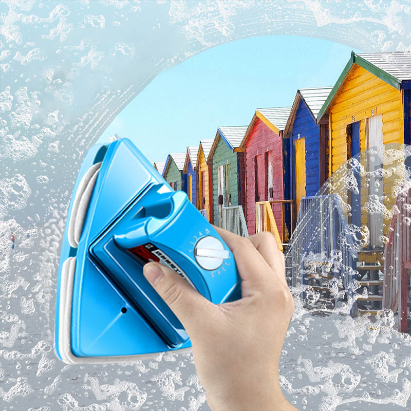1Pcs Double Side Glass Cleaning Brush Magnetic Window Cleaning Wiper Useful Surface Brushs Magnets Household Cleaning Tools