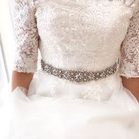 Fashion Wedding Belt Silver Crystal Bridal Sash Rhinestones Bridal Belts For Wedding Evening Dress