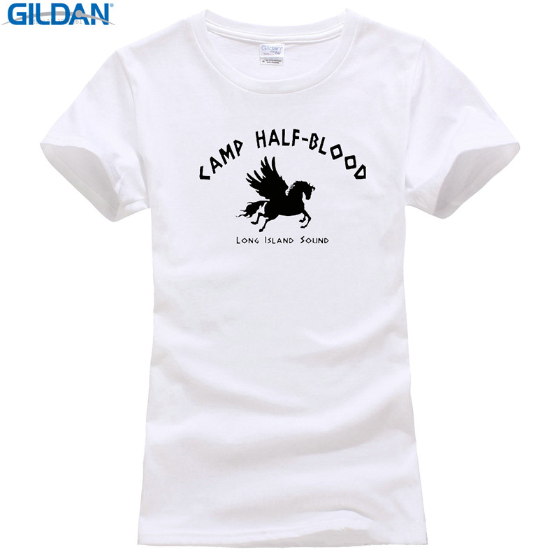 High Quality T Shirt Short Camp Half Blood Long Island Sound Greek Gods Mythology New Crew Neck Summer Tee Shirt For Women2019 f image