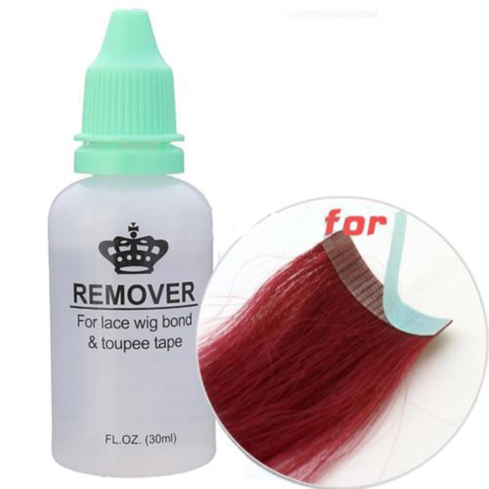Pro Wig Hair Glue Adhesives Remover Fast Remove Hair Extension Tape For Lace Wig Bond Toupee Accessory 1 Bottle 30ml Hair Extensions & Wigs