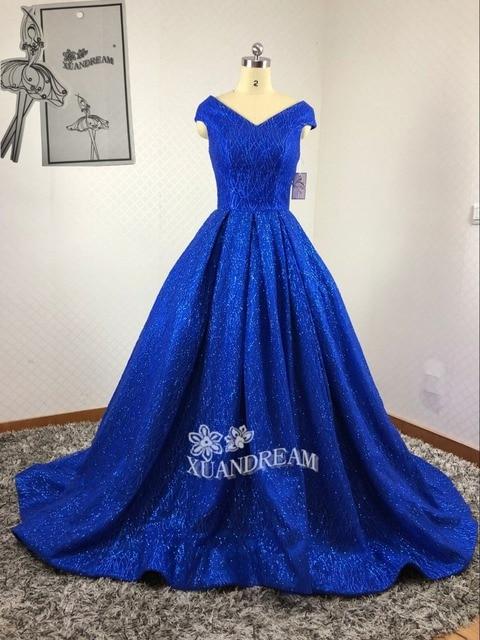 XUANDREAM 100% Real made photo vestidos de novia bling bling gown ...