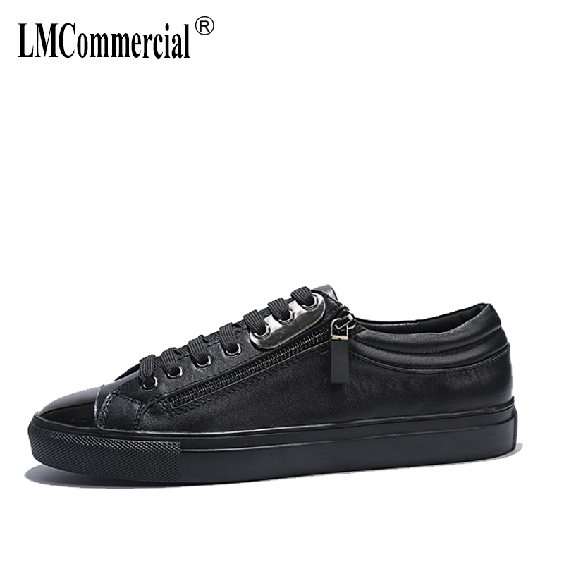 Genuine leather men's shoes British reto business men breathable sneaker fashion men casual shoes spring autumn summer 2017 new spring imported leather men s shoes white eather shoes breathable sneaker fashion men casual shoes