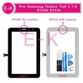 "Original 7.0"" For Samsung Galaxy Tab 2 7.0 P3100 P3110 Touch Screen Digitizer Sensor Front Glass Lens Black White + Tools"