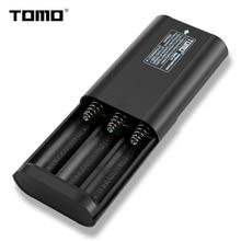 Перезаряжаемые lithion зарядное устройство для 3,7 В ТОМО P3 Портативный 18650 зарядное устройство 3 слота 2A 2 выхода светодио дный индикатор power bank случае