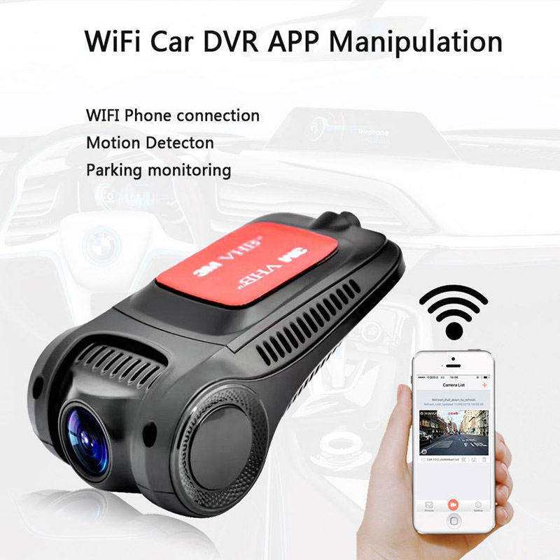 цена на 2018 Auto Parts Night Vision Dash Cam Car DVR 170 Degree HD 1080P Hidden WiFi Car DVR Dash G-sensor Cam Camera Video Recorder