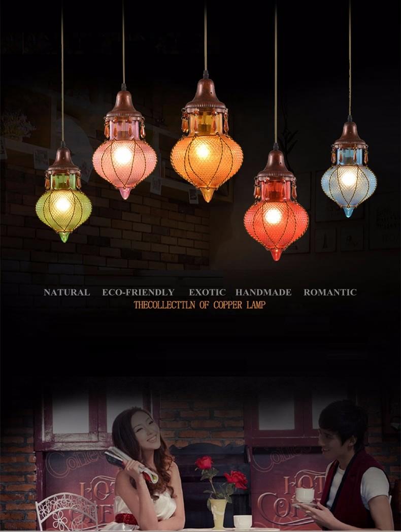 Bohemian Mediterranean Blue Crystal Ceiling Drop Light Pendant Lamp Lampshade Lighting Fixture for Room Restaurant Cafe Decor (29)