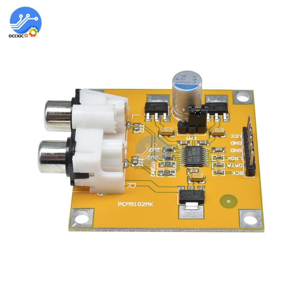 PCM5102 DAC Decoder Board Audio Spectrum Analyzer Decodificador I2S Player Beyond ES9023 for Raspber