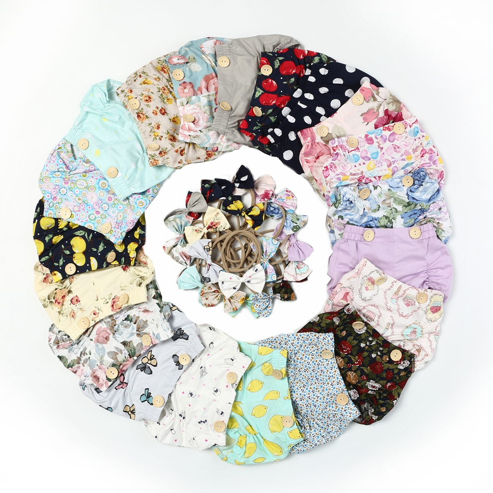 Dream Cradle Baby Girls Bloomers,Girls Shorts,Girls Bubble Baby Shorts,Baby Bloomers and Headband,Baby Boho Floral Bloomers  (2)