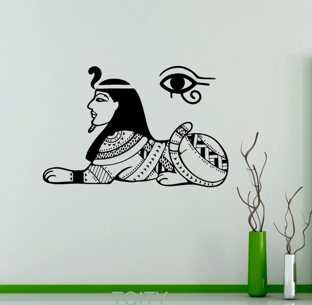 egyptian gods wall decal sphinx sacred symbol vinyl sticker home