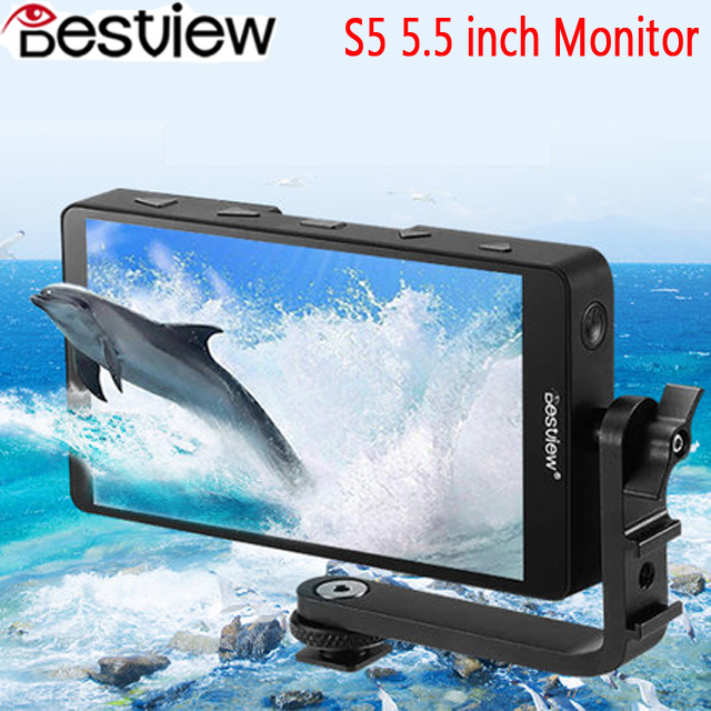 Bestview S5 5.5 inch 4K input narrow screen side monitor for SONY NIKON CANON DSLR ZHIYUN Weebill Lab Crane for RONIN S/MOZA-in Monitor from Consumer Electronics    1