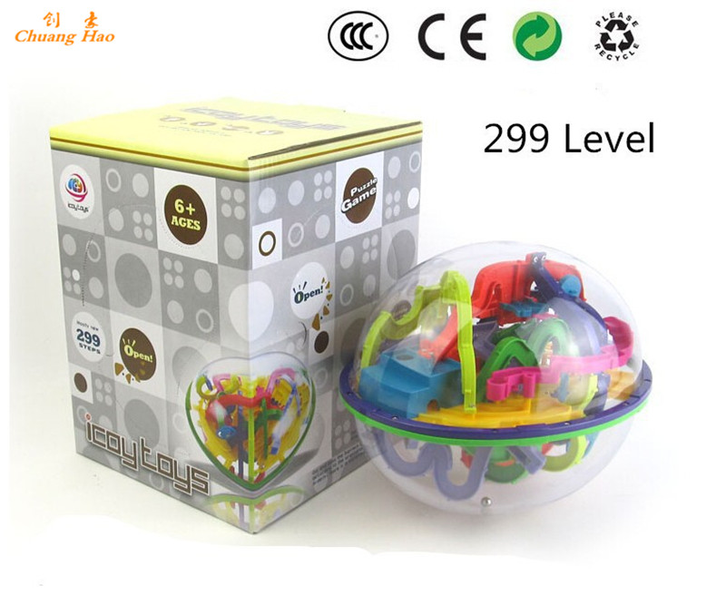 299 steps 3D Magic Intellect Maze Ball IQ balance logic ability perplexus training Children's Educational toys Orbit game intell