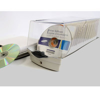 ymjywl High Quality CD Case 50 Disc Capacity CD/DVD Box With Anti theft Lock Child Llock For Car And Home Box