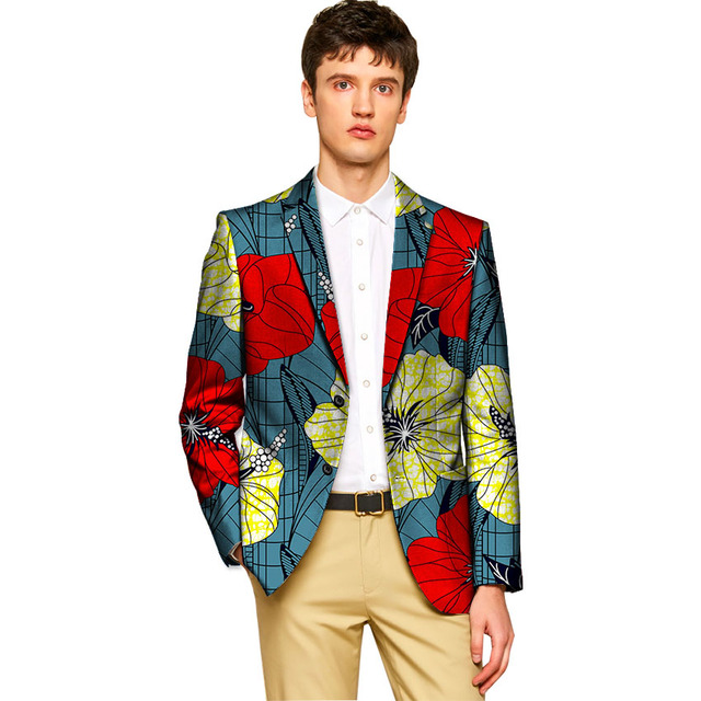 eaece9ec27229 African outfit for men Ankara blazers dashiki print suit jacket wedding wear  tailor made African clothing