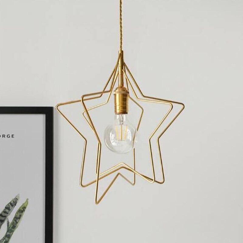 Design nordique Led or moderne pendentif plafonniers suspension lumière pour Bar Loft décor cuisine salle à manger salon