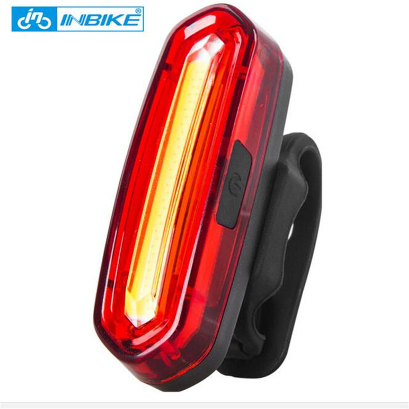 INBIKE New Bike Light Bicycle Tail Light USB Rechargeable Waterproof Cycling Taillights LED COB Warning Lights NX605