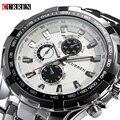2017 Marca de Luxo completa de aço inoxidável Assista Homens de Negócios Casual Relógios de quartzo relógio de Pulso Militar Relogio à prova d' água Nova VENDA