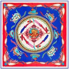 8a4c8720eafe Conception originale 100% Sergé Carré de Soie Écharpe Femmes Dragon Fly  Motif Imprimer Foulard Haute Qualité Foulard Marque Hija.