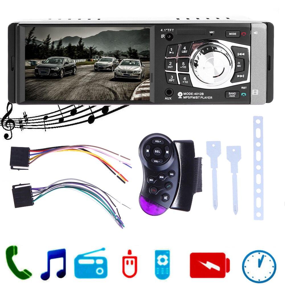 Universal 4 Bluetooth V12 Car Audio MP5 Player In Dash Media Stereo Radio Remote Controller FM