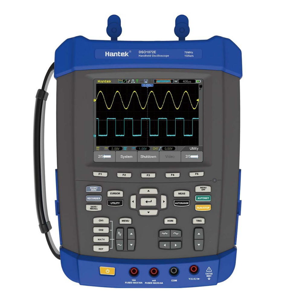 Hantek DSO1072E/DSO1102E/DSO1152E/DSO1202E Handheld Oscilloscope 2M Memory Depth,6000 Counts DMM+DSO 1GS/s 70-200MHz 2channels updated from dso 1060 hantek dso1062b handheld oscilloscope 2 channels 60mhz 1gsa s sample rate 1m memory depth 6000 counts dmm