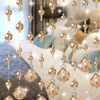 Luxury Handmade Beads String Crystal Curtain for Indoor Wedding Home Living Room Window Door Decor
