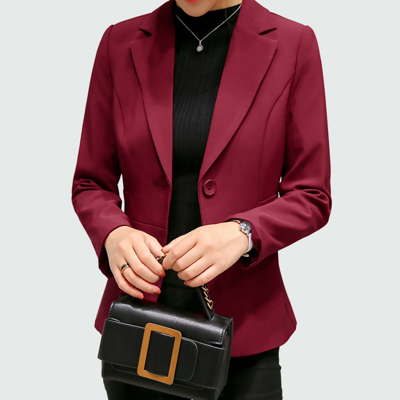 Women Blazers And Jackets 2017 Long Sleeves Office Lady Single Button Women Suit Jacket Female Feminine Blazer Femme