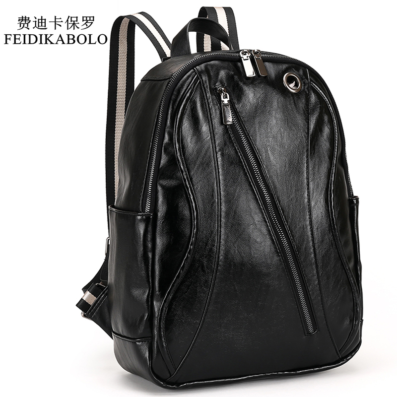 2017 Men Leather Backpack For Laptop Male Business Mochilas Couro Masculina Motorcycle Back Pack Travel Rucksack School Book Bag цена