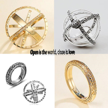 Creative Astronomical Ball Ring Complex Rotating Clamshell Astronomical Ring Universe Student Constellation Ring Jewelry universe exploring the astronomical world