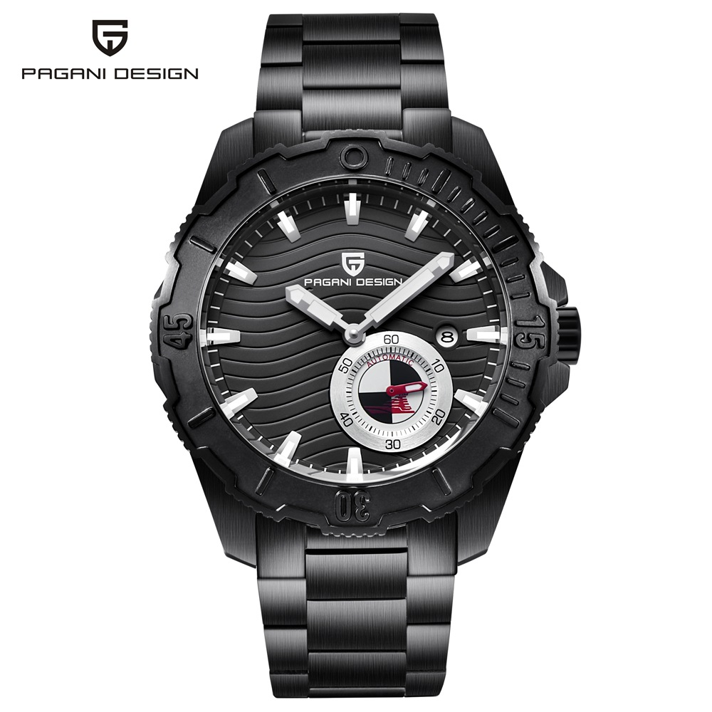 Top Brand PAGANI DESIGN Men's Military Mechanical Watches Waterproof Steel Stainless Brand Luxury Watch Men Relogio Masculino