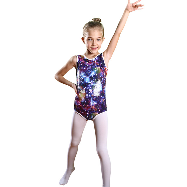9f0443383 BAOHULU Cute Girls Sleeveless Gymnastic Leotards Kids Girl Tank ...