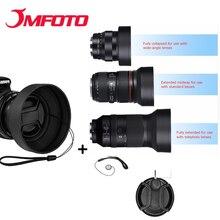 Резиновая бленда для объектива телеобъектив широкоугольный стандарт 49 мм 52 мм 58 мм 55 мм 62 мм 67 мм 72 мм 77 мм телеобъектив+ Lente cap для Canon Nikon sony