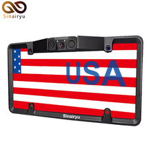 Sinairyu Canada USA American License Plate Body Video Parking Sensor Automotive Reaview Backup Reversing Digicam with Leds Night time Imaginative and prescient