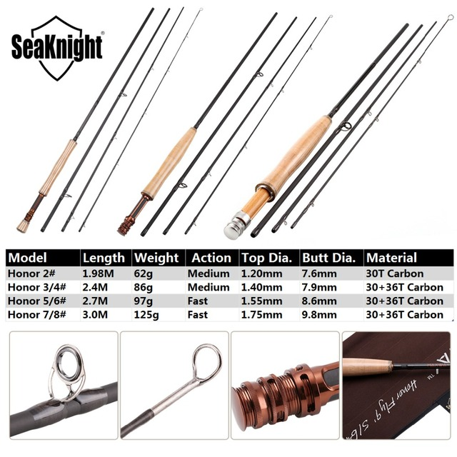 Awesome SeaKnight MAXWAY Fly Rod Honor 6/7/9/10FT 4 Sections Fly Fishing Rod Fishing Rods cb5feb1b7314637725a2e7: Black|Brown|Chocolate|Orange