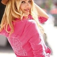 Виктория сикрет супермодель Крылья Ангела розовый стразы Bling куртка с капюшоном S