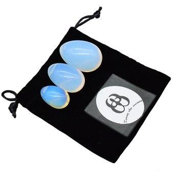 вагинальные шарики Йони Яйцо Drilled Кегеля Яйца Opalite Нефрита Яйца для Упражнение кегеля вагинальные шарики >> Ronny zhu wenwu Official Store