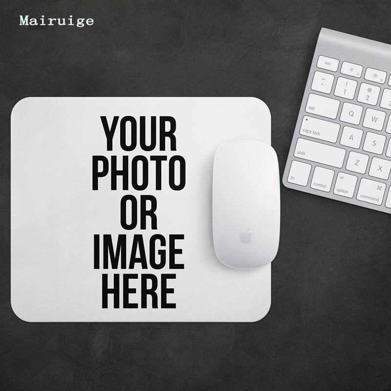 Mairuige Custom Custom Mouse Pad Custom Company LOGO Photo Advertising Games Wedding Gifts Small Size Rubber Anti-skid Mouse Pad custom 100