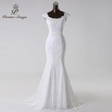 Poemssongs beautiful lace flowers  mermaid Wedding Dress 2020 vestidos de noiva robe de mariage bridal dress  Free shipping