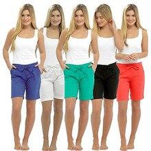 Летние женские шорты, модная одежда для женщин,, повседневные шорты с высокой талией, шорты с бантом, хлопковая однотонная одежда