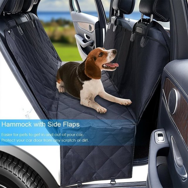 Dog Cover Hammock 600D Heavy Duty Waterproof Scratch Proof Nonslip Durable Soft Pet Back Seat Covers for Cars Trucks and SUVs 2