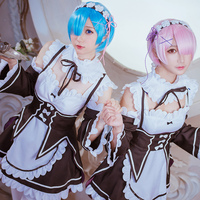 Re Zero Life In A Different World From Zero Rem Ram Cosplay Costume Maid Dress Custom