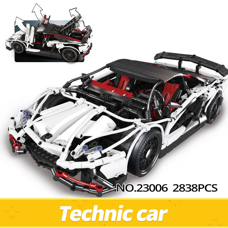 Lepin 23006 2838 pcs Genuine New Technic Hatchback Type R Set Building Blocks Bricks Educational Toys Boy Gifts Technic Race Car