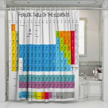 3D Periodic Table of Elements Beach Shower Curtain Bathroom Waterproof Polyester Printing Curtains for