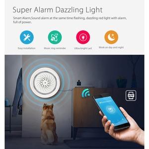 Image 5 - SMARSECUR Smart Wireless WiFi Siren Alarm Sensor USB Power tuya samrt life temperature and  humidity sensor