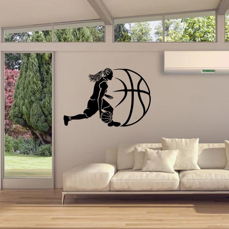 Compra chicas de baloncesto tatuajes de pared online al por mayor ...