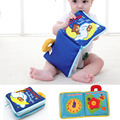 12 pages Soft Cloth Baby Boys Girls Books Rustle Sound Infant With Zipper Side Educational Stroller Rattle Toys
