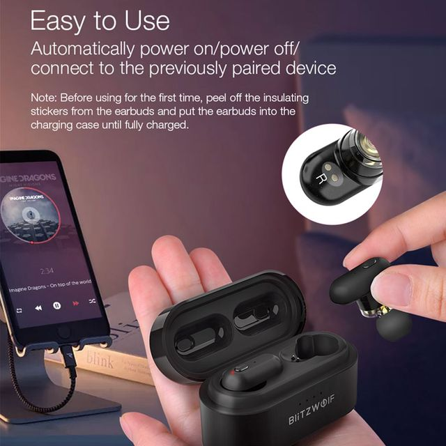 [Dual Dynamic Driver] Blitzwolf BW FYE7 TWS Bluetooth 5.0 In-ear Wireless Earphone Bass Stereo Bilateral Call Earbuds Hifi Music 2