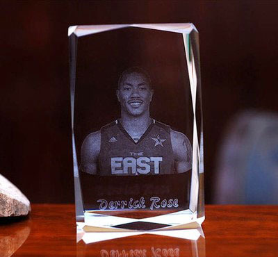 Chicago Derrick Rose TOP Collection Limited Edition Decor 3D Crystal Image Handiwork BEST Business